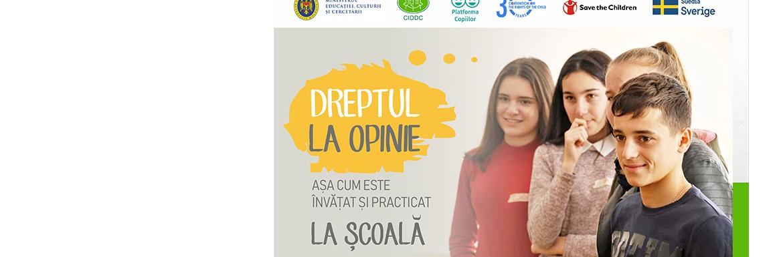 Comunicat de presă: Copiii vorbesc despre cum li se respectă dreptul la opinie în școală, într-un raport public
